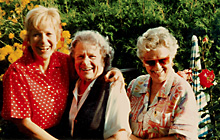 Aunt Olga (93), my mother (80), and I (58), Vienna, August, 1996