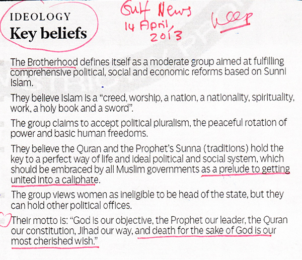 Key Beliefs Brotherhood