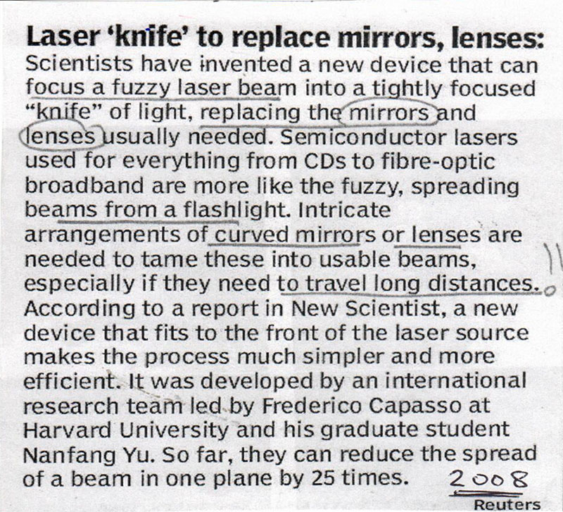 article on LASER