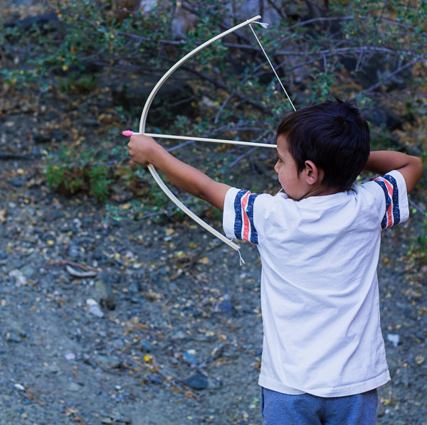 Using-Homemade-Bow-and-Arrows